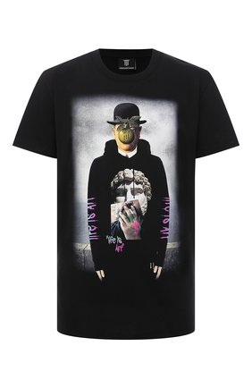Мужская хлопковая футболка DIEGO VENTURINO черного цвета, арт. SS21-DV TS0 MFS | Фото 1