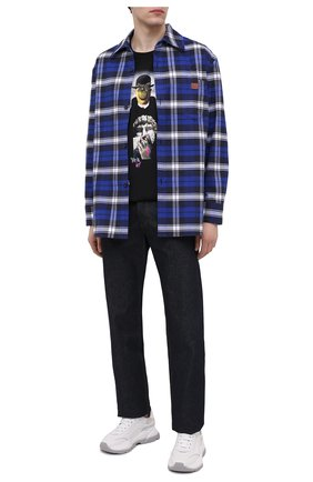 Мужская хлопковая футболка DIEGO VENTURINO черного цвета, арт. SS21-DV TS0 MFS | Фото 2