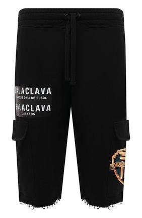 Мужские хлопковые шорты DIEGO VENTURINO черного цвета, арт. SS21-DV SRT TSC BCVBBP | Фото 1