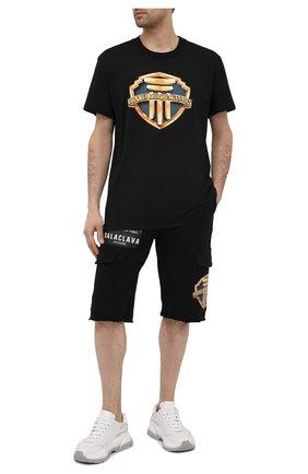 Мужские хлопковые шорты DIEGO VENTURINO черного цвета, арт. SS21-DV SRT TSC BCVBBP | Фото 2
