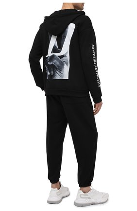 Мужской хлопковая толстовка DIEGO VENTURINO черного цвета, арт. SS21-DV FLZ VDL-TSUM | Фото 2