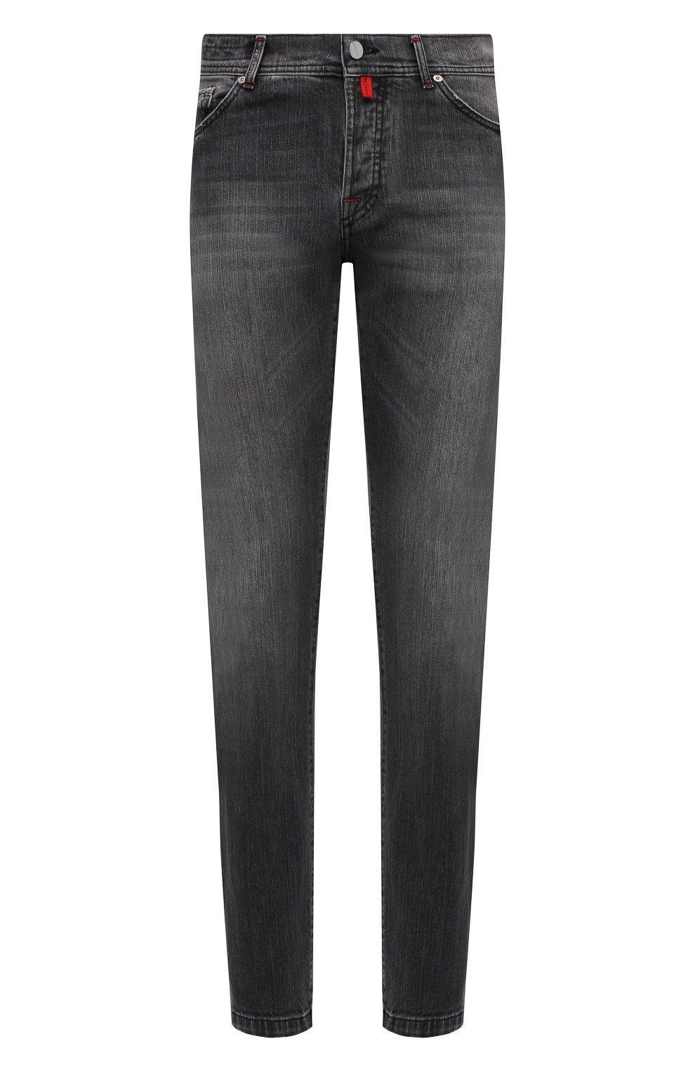 Мужские джинсы KITON темно-серого цвета, арт. UPNJSM/J07T21   Фото 1