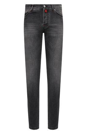Мужские джинсы KITON темно-серого цвета, арт. UPNJSM/J07T21 | Фото 1