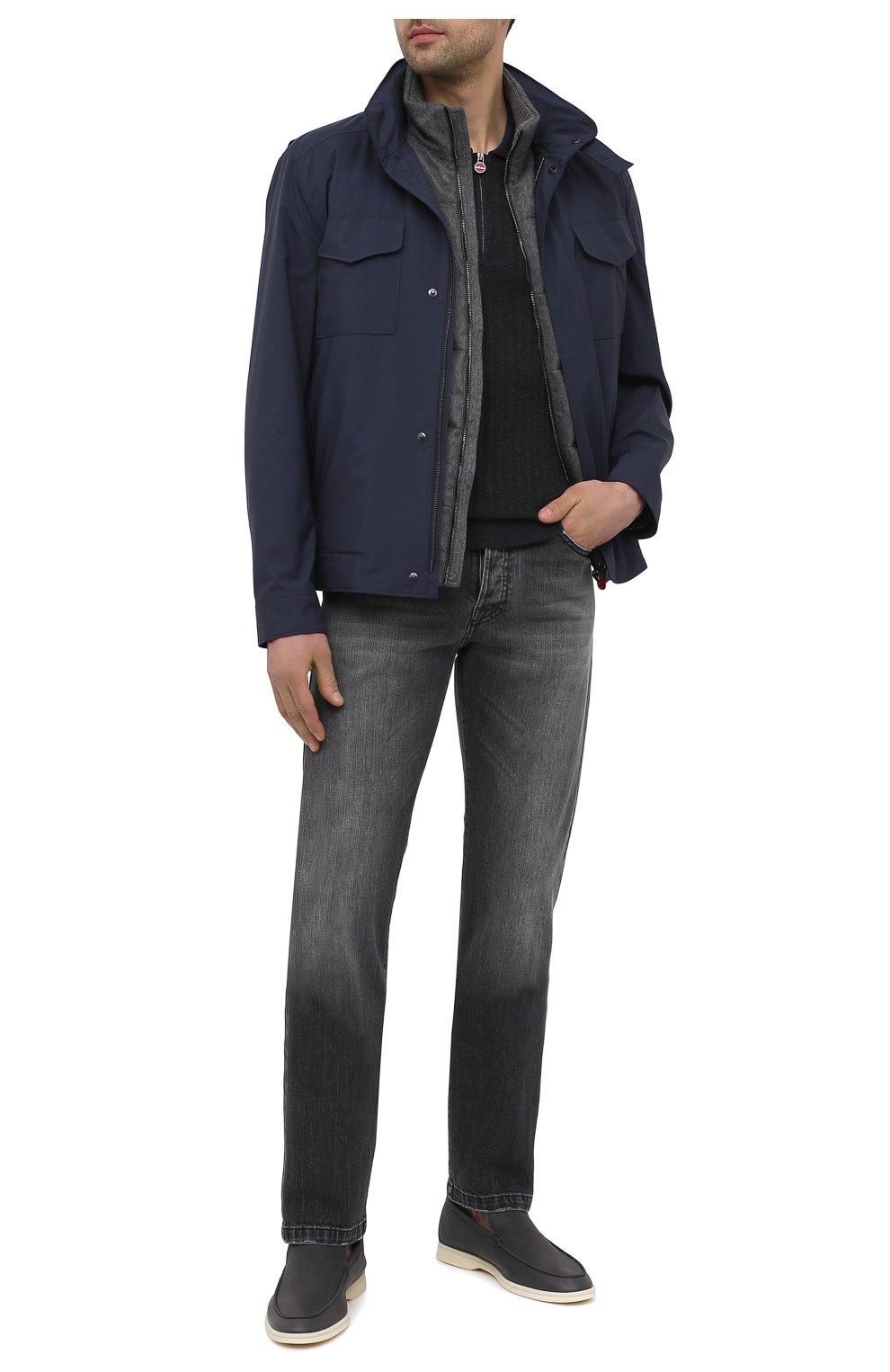 Мужские джинсы KITON темно-серого цвета, арт. UPNJSM/J07T21   Фото 2