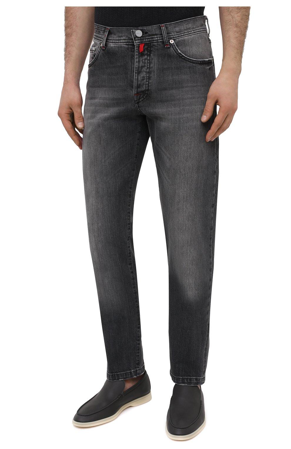 Мужские джинсы KITON темно-серого цвета, арт. UPNJSM/J07T21   Фото 3