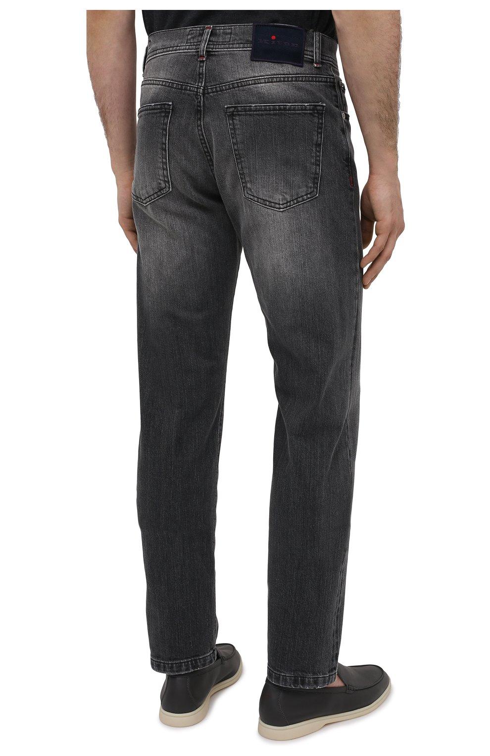 Мужские джинсы KITON темно-серого цвета, арт. UPNJSM/J07T21   Фото 4