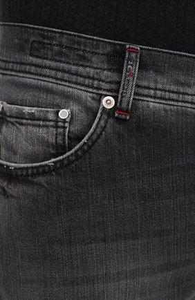Мужские джинсы KITON темно-серого цвета, арт. UPNJSM/J07T21   Фото 5