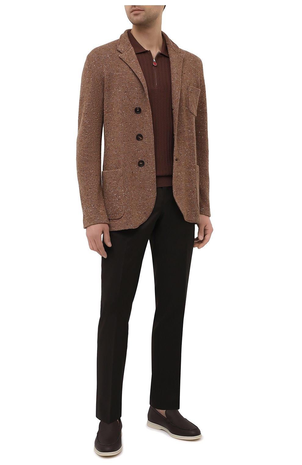 Мужское хлопковое поло KITON коричневого цвета, арт. UK1152 | Фото 2