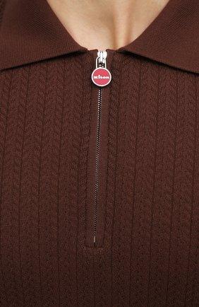 Мужское хлопковое поло KITON коричневого цвета, арт. UK1152 | Фото 5