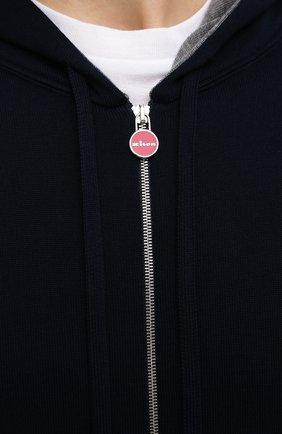 Мужской хлопковый кардиган KITON темно-синего цвета, арт. UK1050   Фото 5
