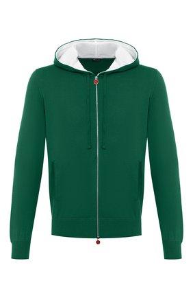 Мужской хлопковый кардиган KITON зеленого цвета, арт. UK1050 | Фото 1