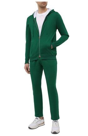 Мужской хлопковый кардиган KITON зеленого цвета, арт. UK1050 | Фото 2