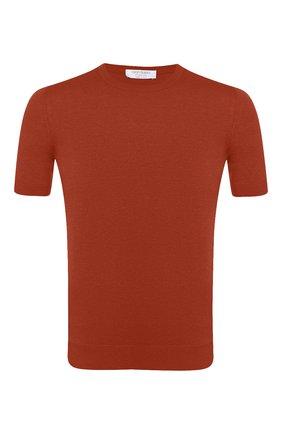 Мужской шелковый джемпер GRAN SASSO оранжевого цвета, арт. 43112/23503   Фото 1