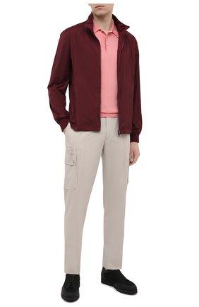 Мужское хлопковое поло GRAN SASSO розового цвета, арт. 43156/20731 | Фото 2 (Рукава: Короткие; Длина (для топов): Стандартные; Кросс-КТ: Трикотаж; Стили: Кэжуэл; Застежка: Пуговицы; Материал внешний: Хлопок)