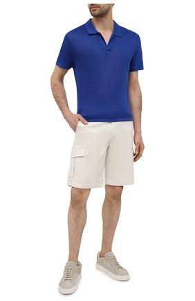 Мужское льняное поло VILEBREQUIN темно-синего цвета, арт. PYRE9O00/355 | Фото 2