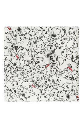 Детского комплект из четырех пеленок ADEN+ANAIS черно-белого цвета, арт. DISN103G   Фото 2