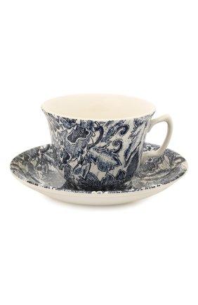 Чайная чашка с блюдцем Faded Peony | Фото №1