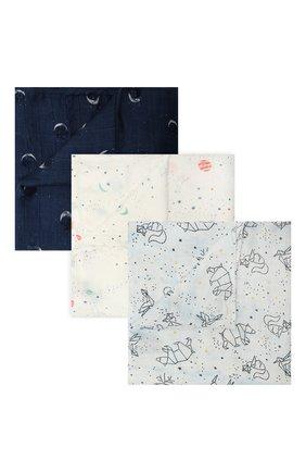 Детского комплект из трех пеленок ADEN+ANAIS разноцветного цвета, арт. 9227   Фото 1