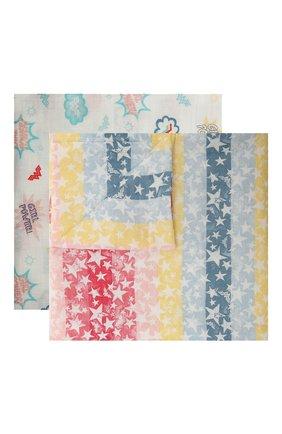 Детского комплект из двух пеленок ADEN+ANAIS разноцветного цвета, арт. ESWC20009WBB   Фото 1