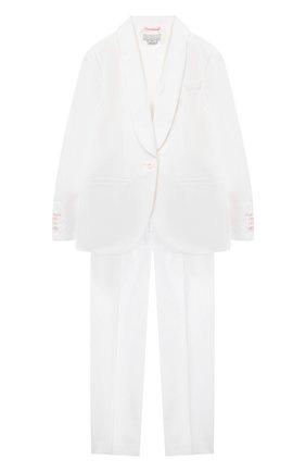 Детский хлопковый костюм STELLA MCCARTNEY белого цвета, арт. 602864/SQKD9 | Фото 1