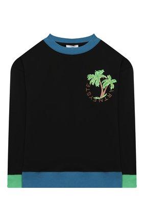 Детского комплект из лонгслива и шорт STELLA MCCARTNEY черного цвета, арт. 602857/SQJ62 | Фото 2