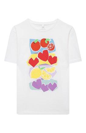 Детская хлопковая футболка STELLA MCCARTNEY белого цвета, арт. 602650/SQJC4 | Фото 1