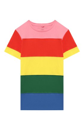 Детская хлопковая футболка STELLA MCCARTNEY разноцветного цвета, арт. 602648/SQJD5 | Фото 1 (Рукава: Короткие; Материал внешний: Хлопок; Девочки Кросс-КТ: футболка-одежда; Ростовка одежда: 9 лет | 134 см, 12 лет | 152 см, 13 - 15 лет | 158 см, 16 лет | 164 см, 18 мес | 86 см, 2 года | 92 см, 3 года | 98 см, 4 года | 104 см, 5 лет | 110 см, 7 лет | 122 см)