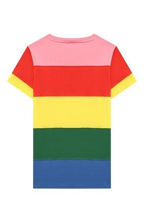 Детская хлопковая футболка STELLA MCCARTNEY разноцветного цвета, арт. 602648/SQJD5 | Фото 2 (Рукава: Короткие; Материал внешний: Хлопок; Девочки Кросс-КТ: футболка-одежда; Ростовка одежда: 9 лет | 134 см, 12 лет | 152 см, 13 - 15 лет | 158 см, 16 лет | 164 см, 18 мес | 86 см, 2 года | 92 см, 3 года | 98 см, 4 года | 104 см, 5 лет | 110 см, 7 лет | 122 см)