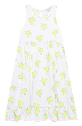 Детское хлопковое платье STELLA MCCARTNEY белого цвета, арт. 602621/SQJE1 | Фото 1