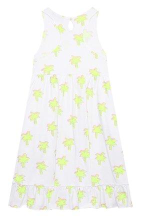 Детское хлопковое платье STELLA MCCARTNEY белого цвета, арт. 602621/SQJE1 | Фото 2
