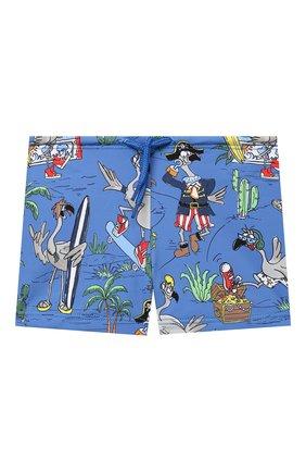 Детского плавки-шорты STELLA MCCARTNEY синего цвета, арт. 602356/SQK06 | Фото 1