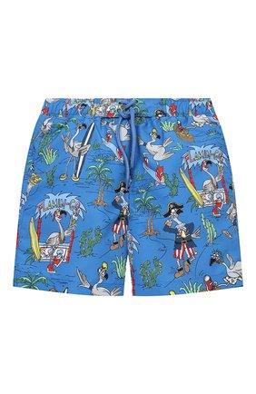 Детские плавки-шорты STELLA MCCARTNEY синего цвета, арт. 602342/SQK36 | Фото 1