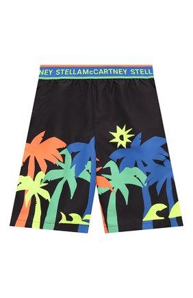 Детские плавки-шорты STELLA MCCARTNEY черного цвета, арт. 602341/SQK32 | Фото 1