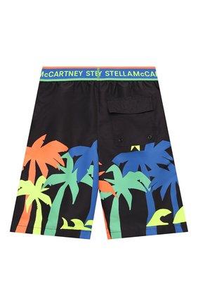 Детские плавки-шорты STELLA MCCARTNEY черного цвета, арт. 602341/SQK32 | Фото 2
