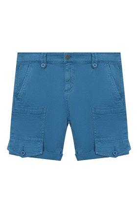 Детские хлопковые шорты STELLA MCCARTNEY синего цвета, арт. 602324/SQK08 | Фото 1