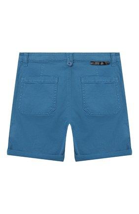 Детские хлопковые шорты STELLA MCCARTNEY синего цвета, арт. 602324/SQK08 | Фото 2