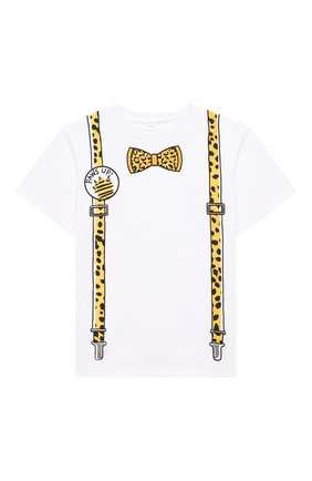 Детская хлопковая футболка STELLA MCCARTNEY белого цвета, арт. 602241/SQJ83 | Фото 1