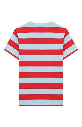 Детская хлопковая футболка STELLA MCCARTNEY разноцветного цвета, арт. 602241/SQJ68 | Фото 2 (Материал внешний: Хлопок; Рукава: Короткие; Ростовка одежда: 9 лет | 134 см, 12 лет | 152 см, 18 мес | 86 см, 2 года | 92 см, 3 года | 98 см, 4 года | 104 см, 7 лет | 122 см)