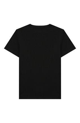 Детская хлопковая футболка STELLA MCCARTNEY черного цвета, арт. 602241/SQJ56 | Фото 2