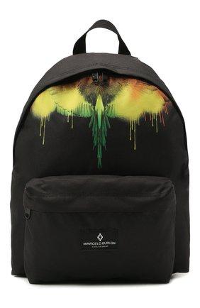 Детская рюкзак MARCELO BURLON KIDS OF MILAN черного цвета, арт. 21E/B/MB/9512/9000   Фото 1