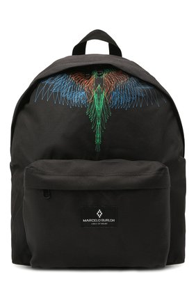 Детская рюкзак MARCELO BURLON KIDS OF MILAN черного цвета, арт. 21E/B/MB/9510/9000   Фото 1