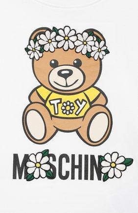 Детский комплект из топа и шорт MOSCHINO желтого цвета, арт. HDG006/LBB57/10A-14A | Фото 4