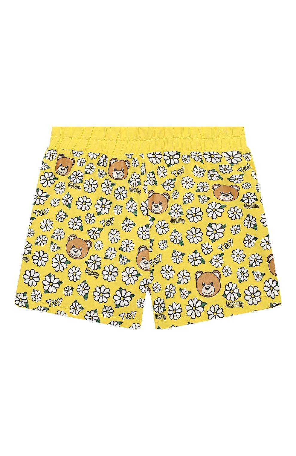 Детский комплект из топа и шорт MOSCHINO желтого цвета, арт. HDG006/LBB57/10A-14A | Фото 5