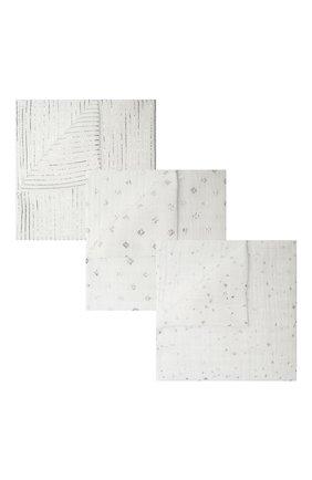 Детского комплект из трех пеленок ADEN+ANAIS белого цвета, арт. 4501G | Фото 1