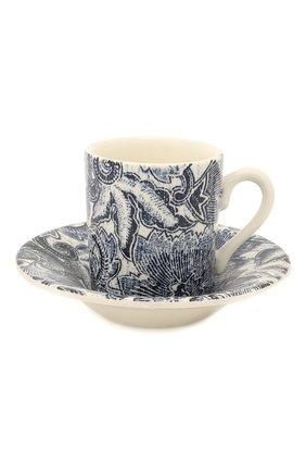 Кофейная чашка с блюдцем Faded Peony | Фото №1