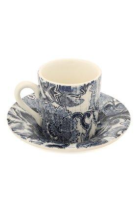 Кофейная чашка с блюдцем Faded Peony | Фото №2