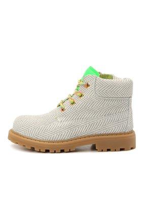 Детские замшевые ботинки RONDINELLA белого цвета, арт. 11200-7/6394/24-27 | Фото 2