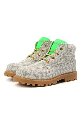 Детские замшевые ботинки RONDINELLA белого цвета, арт. 11200-7/6394/28-30 | Фото 1