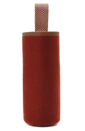 Мужской чехол для бутылки LORO PIANA красного цвета, арт. FAI9243/B0TTLE H0LDER   Фото 1
