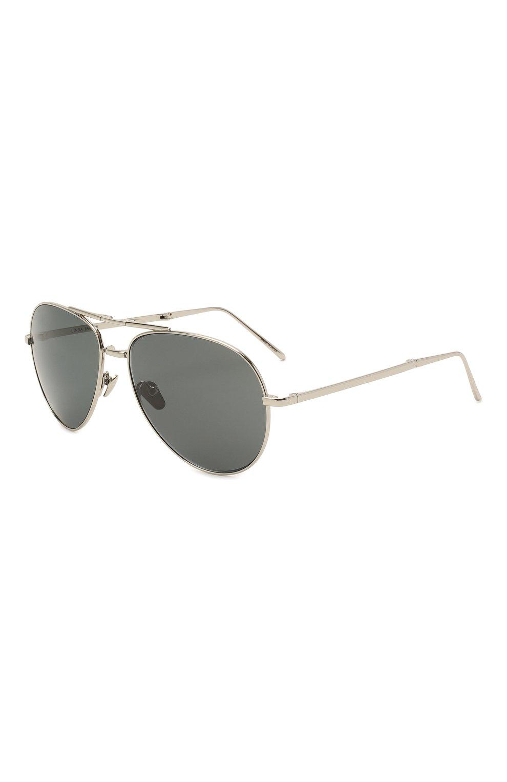 Женские солнцезащитные очки LINDA FARROW серебряного цвета, арт. LFL518C5 SUN | Фото 1